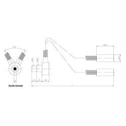 SCIENSCOPE Fiber Optic Dual Pipe Light FC-DP-18