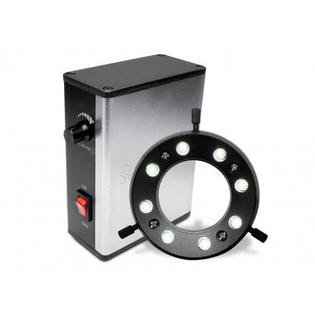 "SCIENSCOPE IL-LED-R2E 8-Points LED Adjustable Ring Light 2.4"""