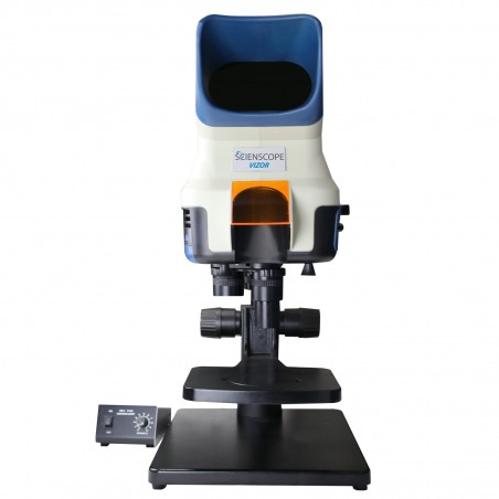 SCIENSCOPE VIZOR-TS Vizor Macro 4K Visual Inspection System with Focus Stage and Table Stand