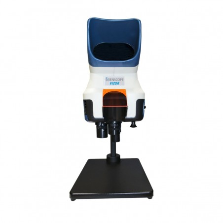 SCIENSCOPE VIZOR-T Vizor Macro 4K Visual Inspection System with Table Stand